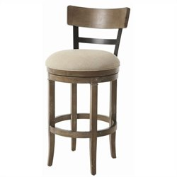 Pastel Furniture Susan Swivel Barstool in Dark Mocha and Charcoal