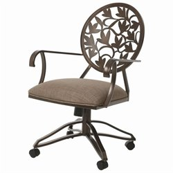 Pastel Furniture Brownsville Caster Dining Chair in Coffee Brown