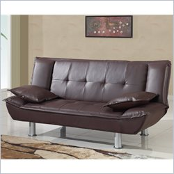 Global Furniture USA SB012 Convertible Sofa in Brown PVC