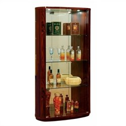 Global Furniture D92 Vertrina Curio Cabinet in Kokuten