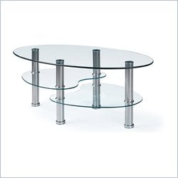 Global Furniture Clear Coffee Table