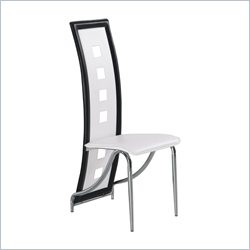 Global Furniture Armless Dining Chair in White