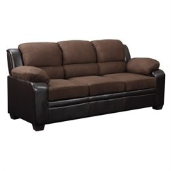 Global Furniture USA Microfiber Sofa in Brown