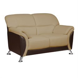 Global Furniture USA Faux Leather Loveseat in Cappuccino