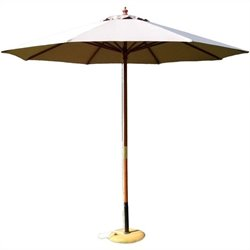 9' Octagonal Market Patio Umbrella in Natural