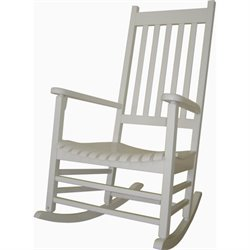 Porch Rocker in White Finish