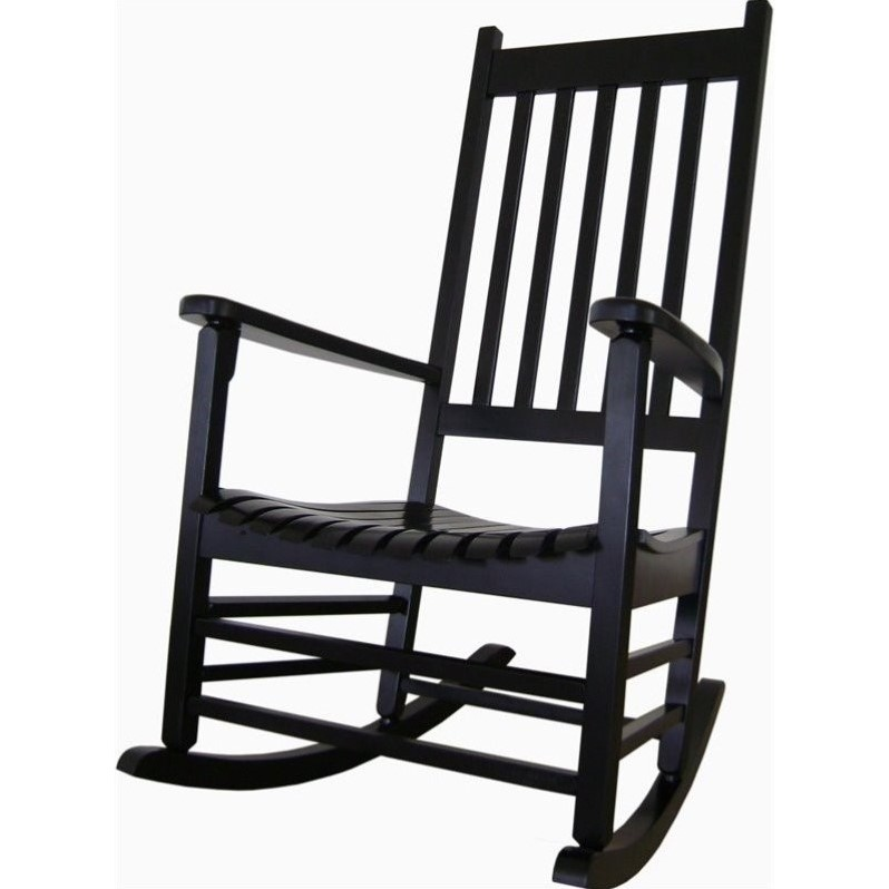 Porch Rocker in Black Finish