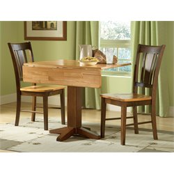 3 Piece Dinette Set in Cinnamon and Espresso