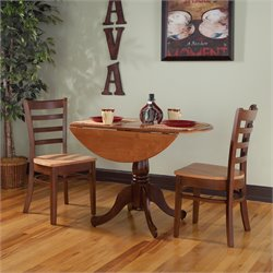 3 Piece Dinette Set in Cinnemon and Espresso