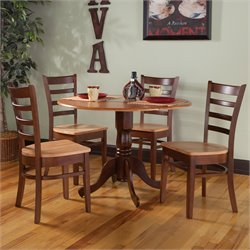 5 Piece Dining Set in Cinnemon and Espresso
