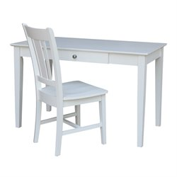 International Concepts Desk with Chair in Beach White