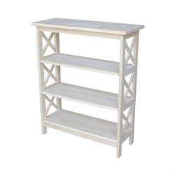 X-Sided 3 Shelf Open Bookcase