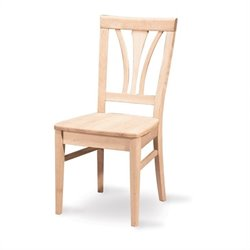 White Unfinished Fanback Dining Chair (Set of 2)