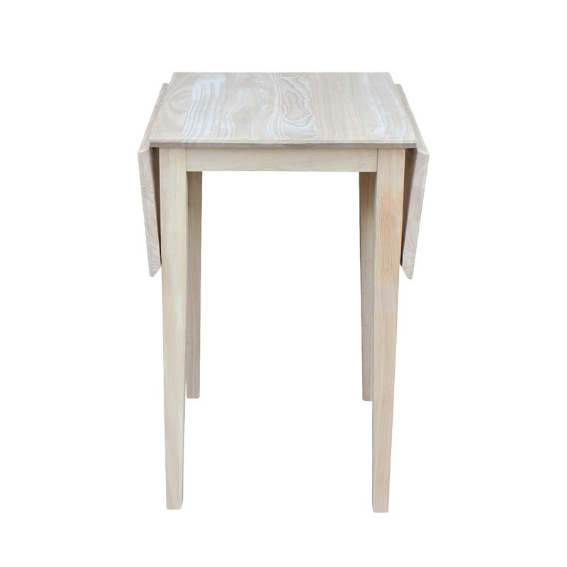 Unfinished Drop Leaf Casual Dining Table