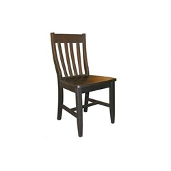 Schoolhouse Dining Chair in Black Finish (Set of Two)