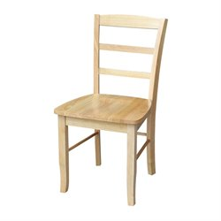 Ladderback Dining Chair in Natural Finish (Set of 2)
