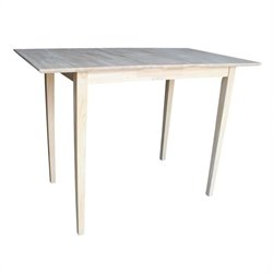 Unfinished Rectangular Dining Table
