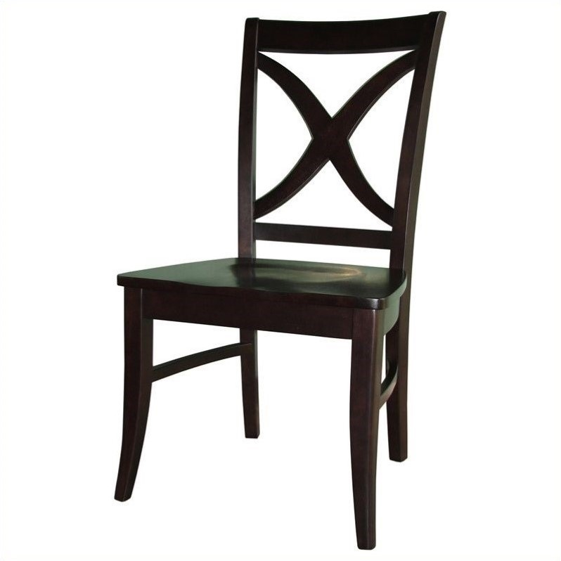 Dining Chair in Dark Walnut (set of 2)