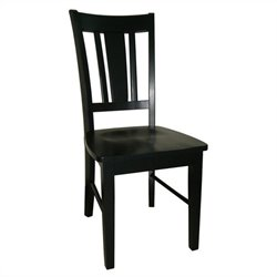 Splatback Dining Chair in Black (set of 2)