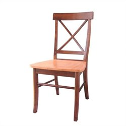 X Dining Chair in Cinnamon/Espresso (set of 2)