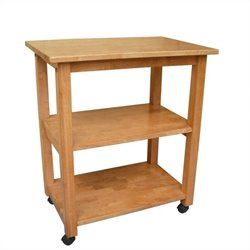 Microwave Cart in Medium Oak