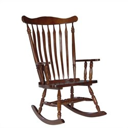 Solid Wood Rocking Chair in Soft Cherry