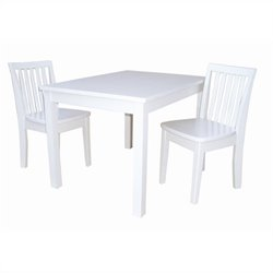 3 Piece Mission Table Set in Linen White