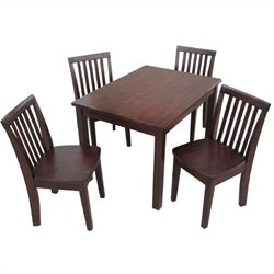 5 Piece Mission Table Set in Rich Mocha