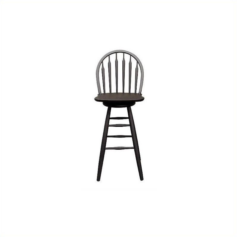 30 Quot Arrowback Swivel Bar Stool In Black S46 613