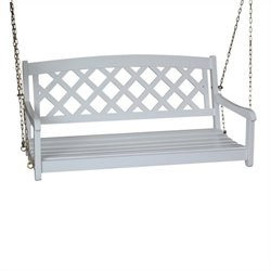 2 seat X-Back Porch Swing in White