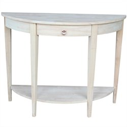 Unfinished Half Moon Console Table