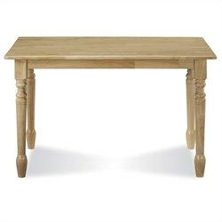 Solid Casual Dining Table in Natural Brown Finish