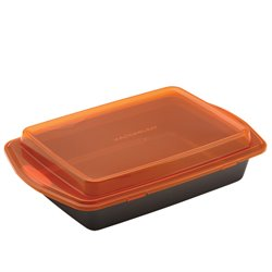 Rachael Ray Bakeware Cake Pan in Gray and Orange