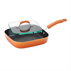Rachael Ray Porcelain Griddle in Orange Gradient