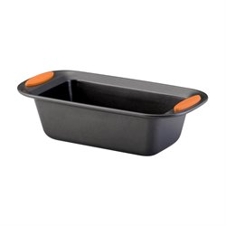 Rachael Ray Yum-o Nonstick Loaf Pan in Gray and Orange