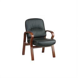 Leather Visitors Guest Chair in Black