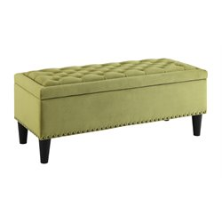 Upholstered Storage Bench in Basil
