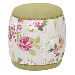 Upholstered Stool in Basil