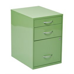 3 Drawer Metal File Cabinet in Green