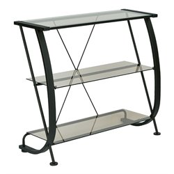 3 Shelf Bookcase in Black