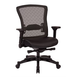 Executive Bonded Leather Back Chair in Black