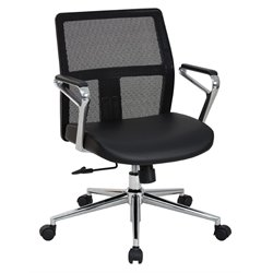 Mid Back Managers Chair in Black