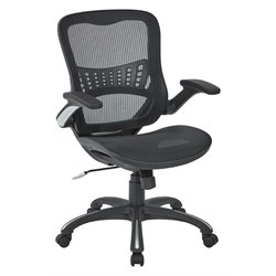 Mesh Seat Managers Chair in Black