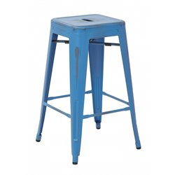 Counter Stool in Antique Royal Blue (Set of 2)