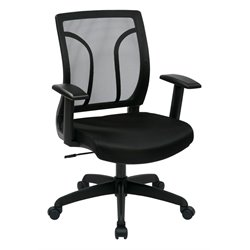 Screen Back Chair with Mesh Seat in Black