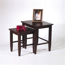 2 Piece Nesting Tables in Espresso