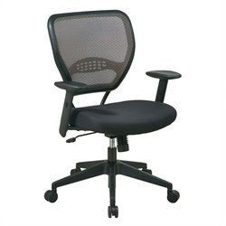 Deluxe Latte Air Grid Managers Office Chair in Black