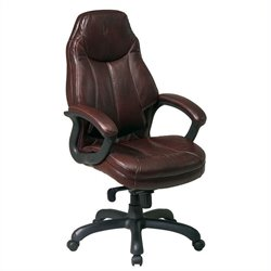Oversized Executive Faux Leather Office Chair in Black