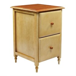 Office Star Country Cottage 2 Drawer File Cabinet in Buttermilk Cherry