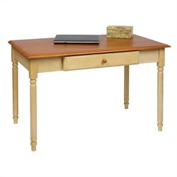 Wood Writing Desk in Antique Yellow